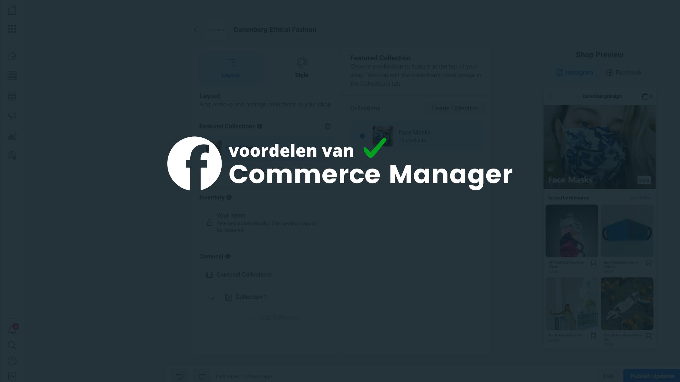 Facebook Commerce Manager: Dit zijn de voordelen